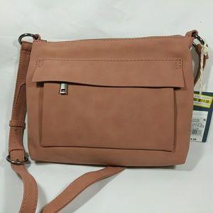 Pink blush coral crossbody purse